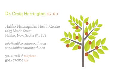 Dr Craig Herrington: www.halifaxaturopathic.ca