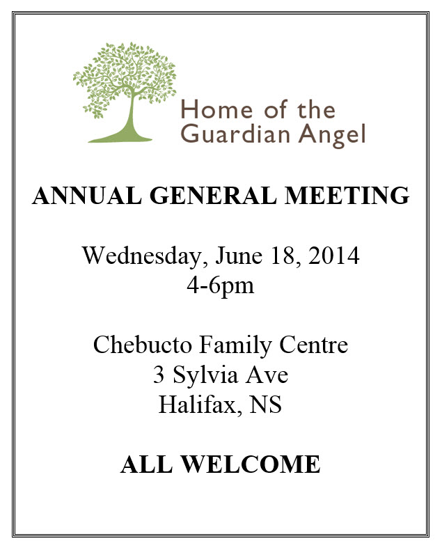 Home of the Guardian Angel 2014 Annual General Meeting (AGM)