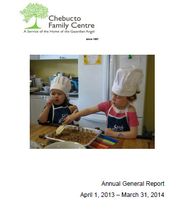 2014 Annual General Meeting Report of the Chebucto Family Centre: A Service of the Home of the Guardian Angel